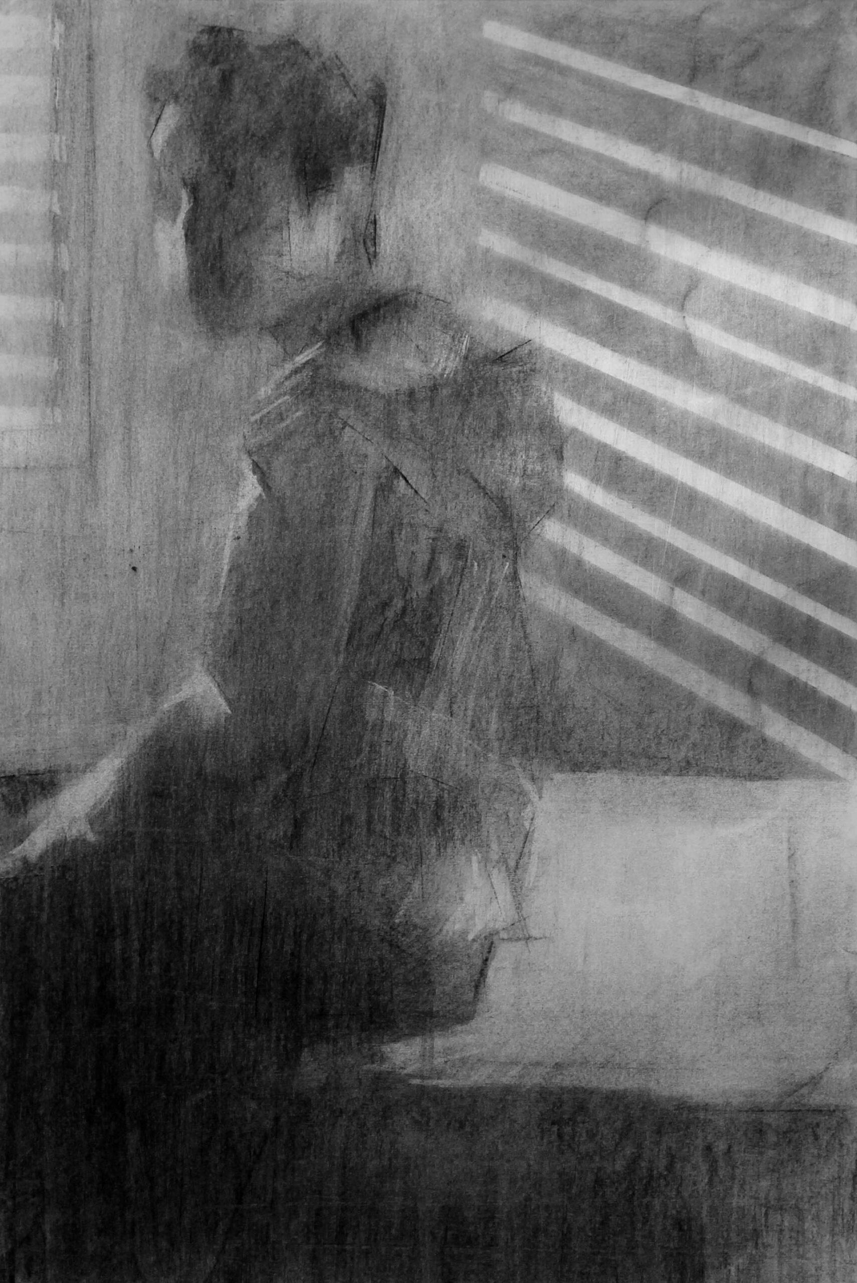 עותק-של-Tigist-Ron-Yoseph-HOME-Itay-2021-Charcoal-on-paper-70×50-cm