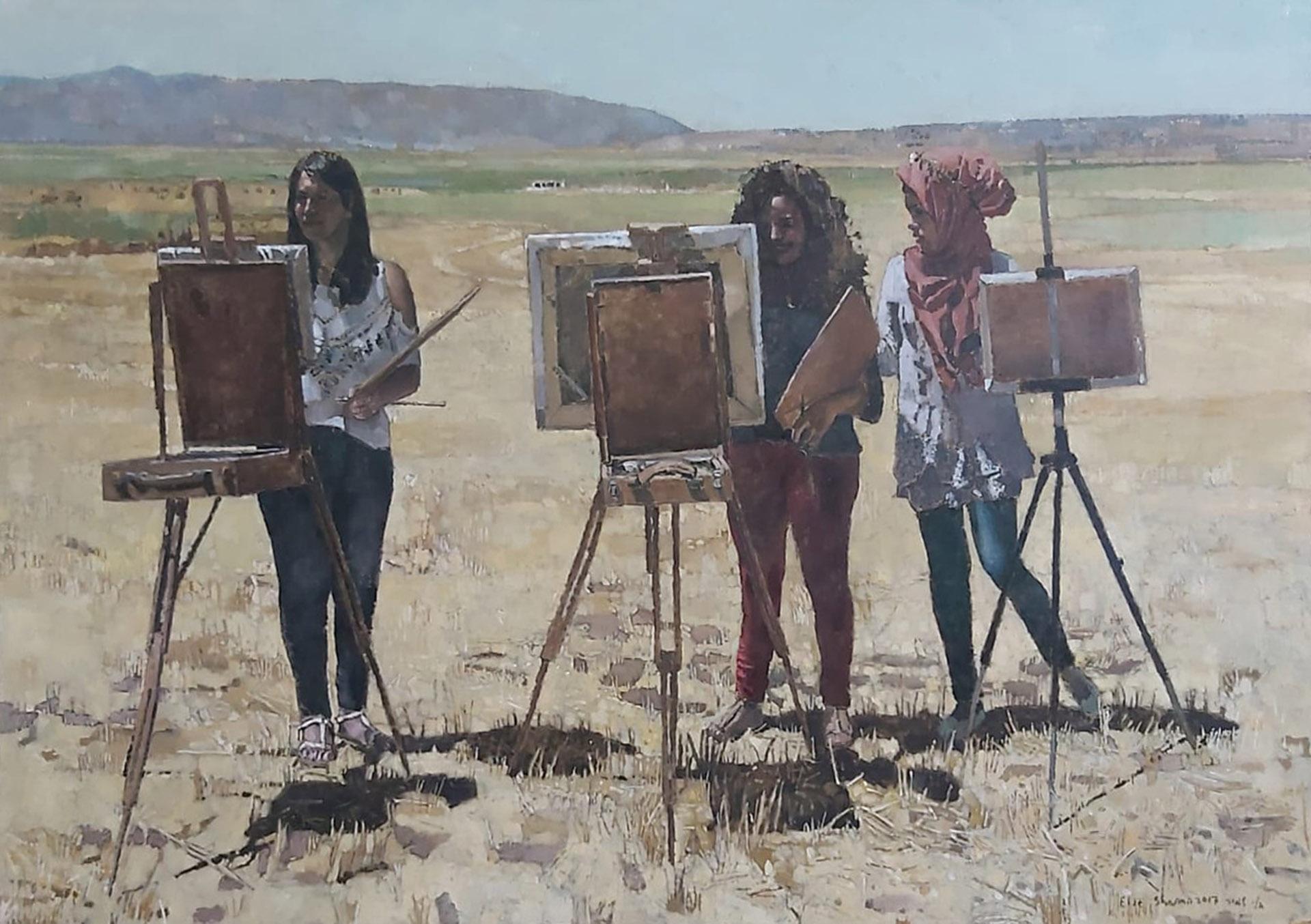 Maram-Elie-Shamir-Rozan-_-Dunia-Paint-Tel-Megido-Oil-on-canvas-105×150-cm1-1