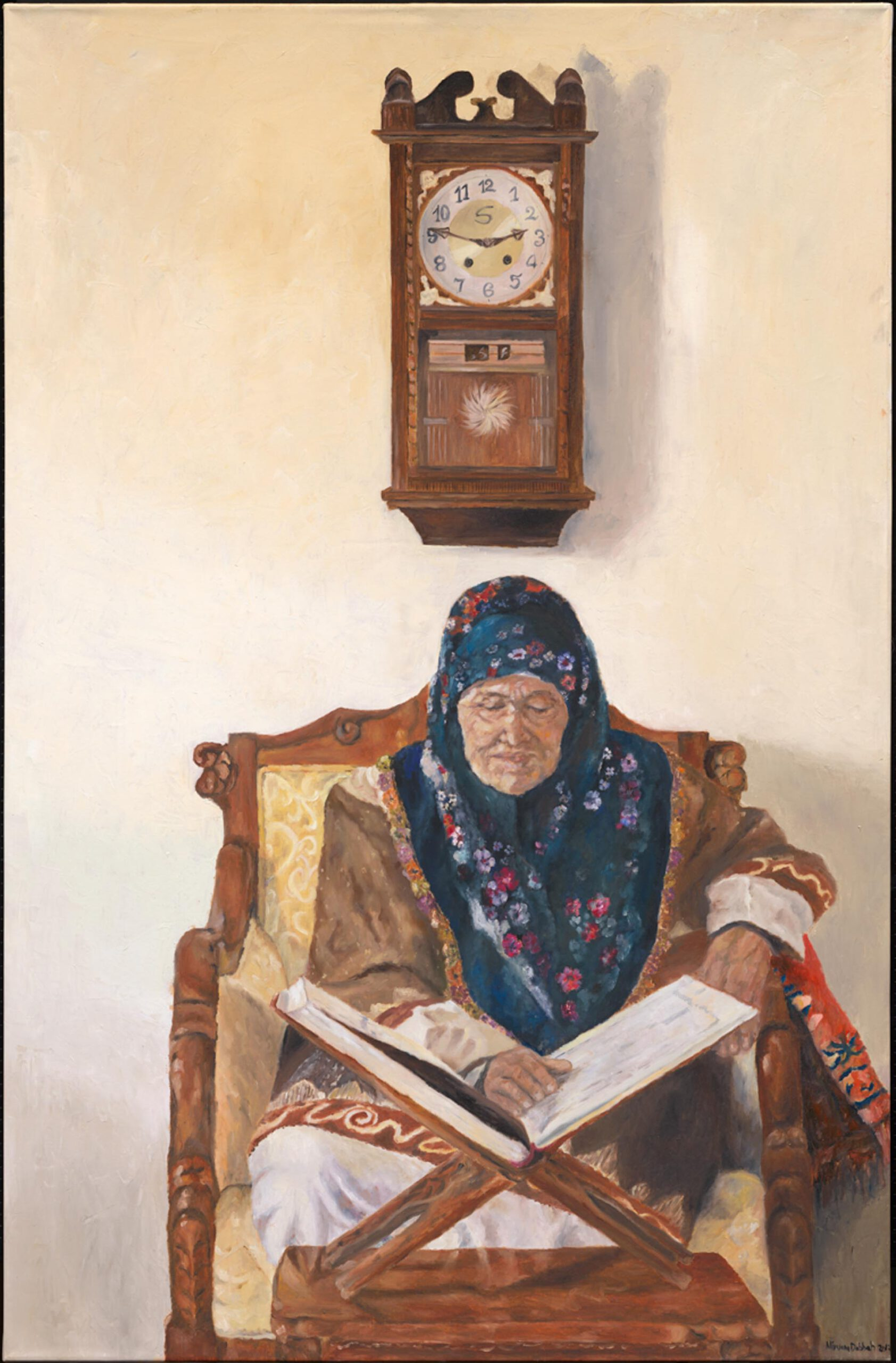 Nirvana-Dabbah-Grandmother-Praying-2008-oil-on-canvas-160×120-cm