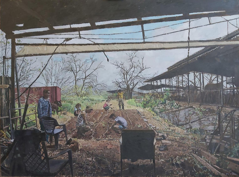 Elie-Shamir-Vegetable-Garden-2021-Oil-on-canvas-150-x-200-cm